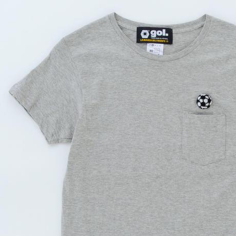 ポケットTシャツ:サッカーボール