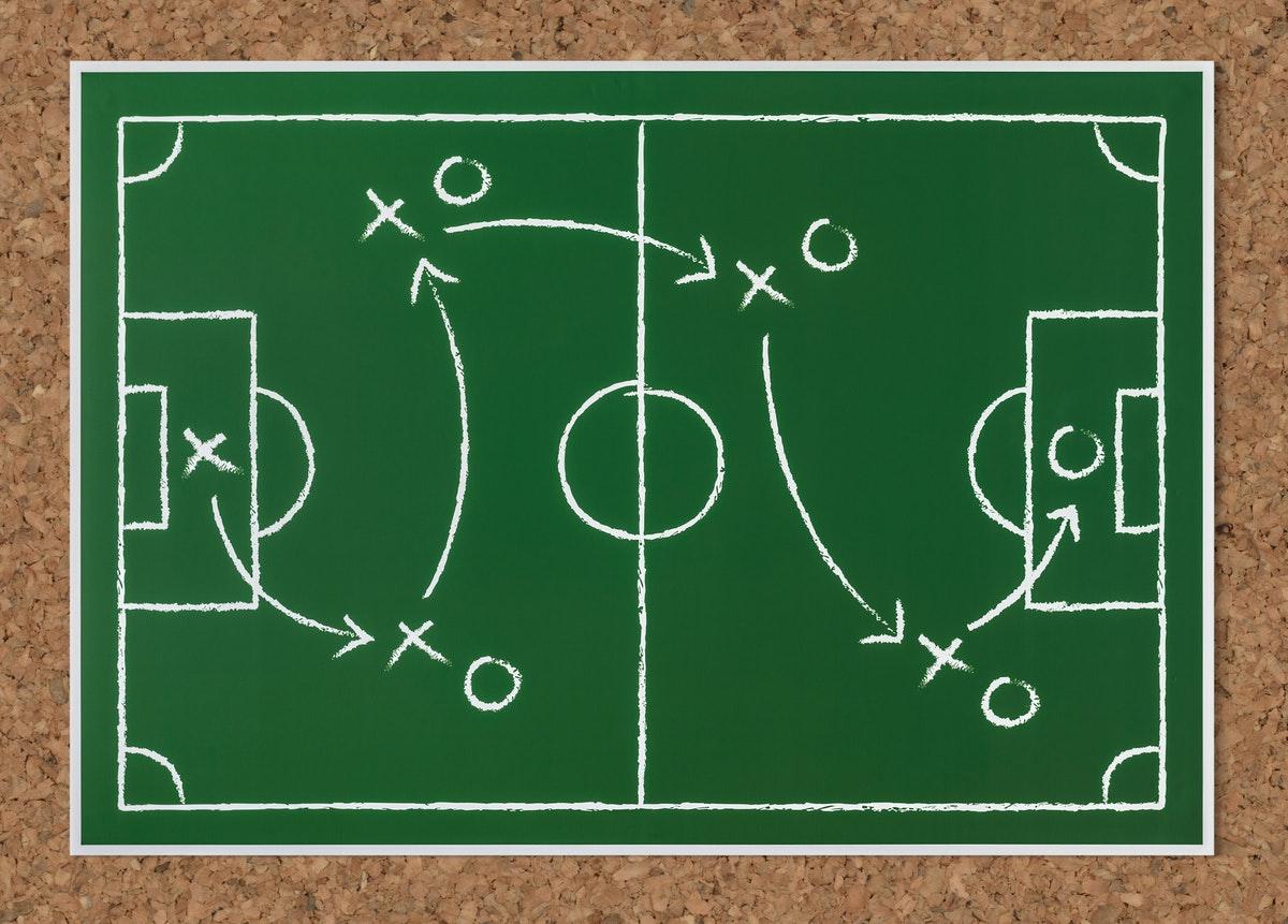 サッカーの作戦ボード