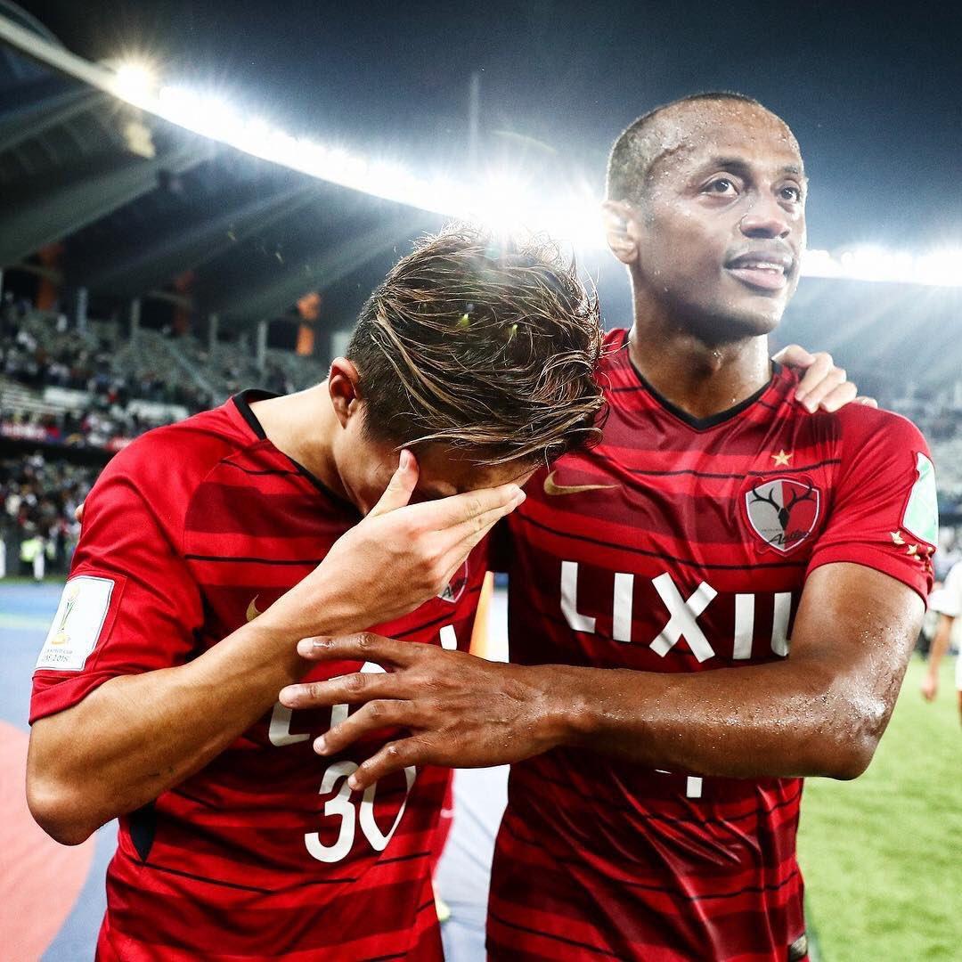 クラブワールドカップ準決勝でレアルマドリード戦後に涙を拭う安部選手