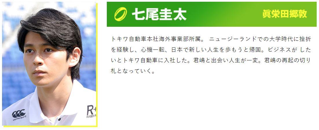 ノーサイドゲームで七尾役を演じるのは眞栄田豪敦