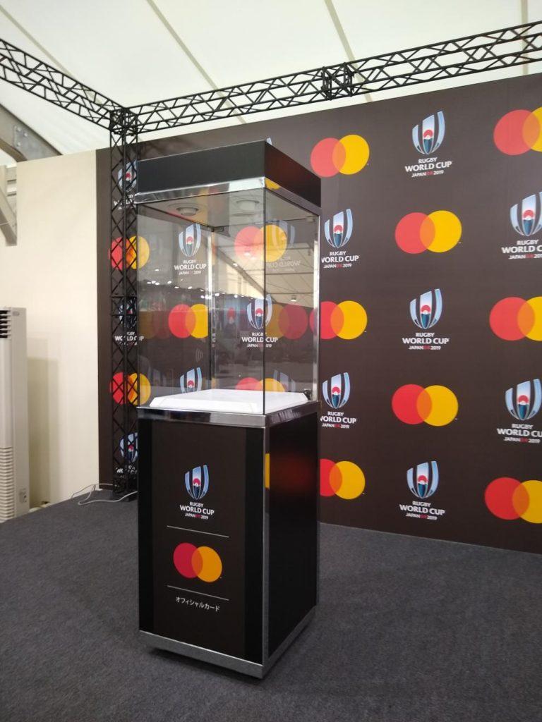 ラグビーワールドカップメガストアの優勝カップの展示場所