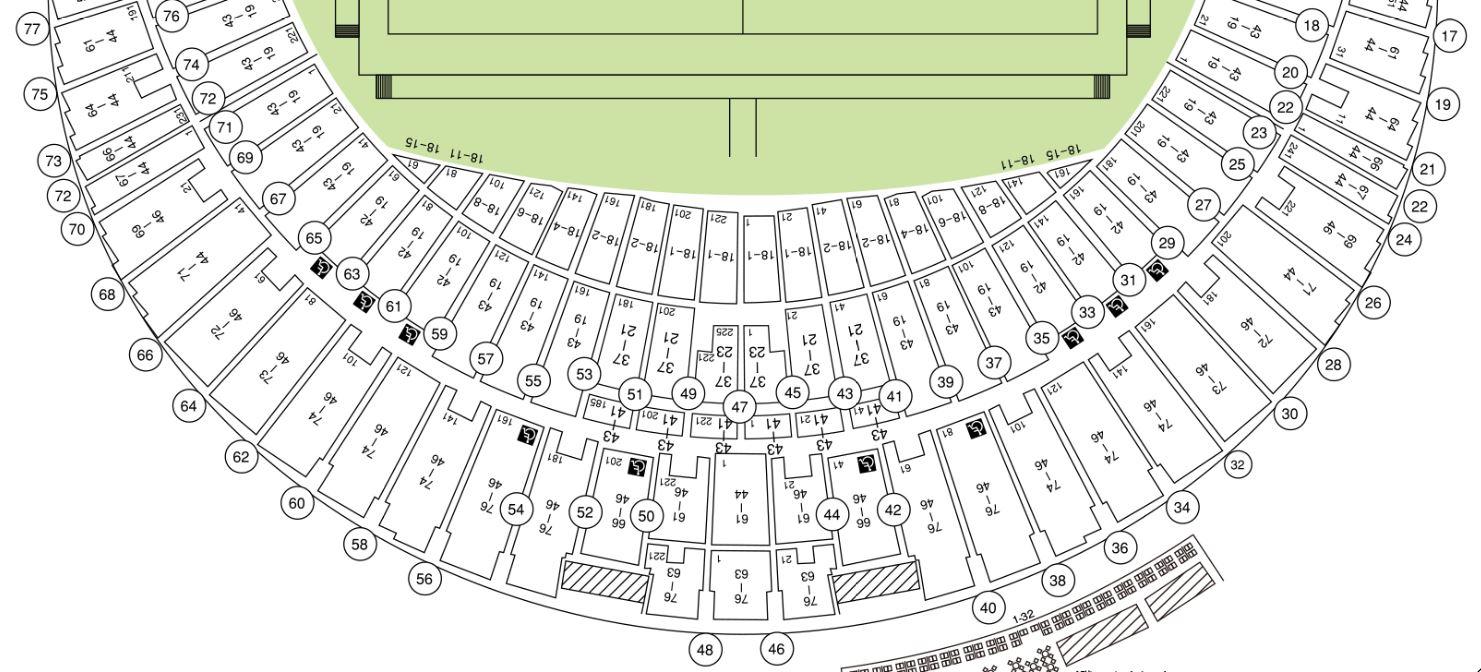ラグビーワールドカップの札幌ドームの座席表・シートマップ・座席番号
