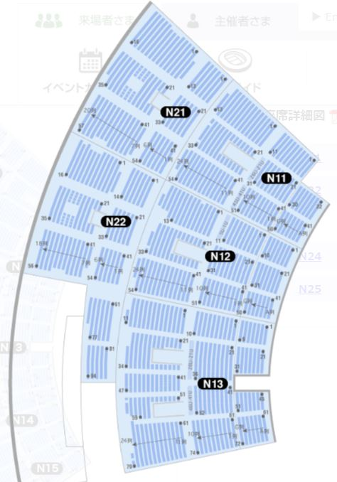 小笠山総合運動公園エコパスタジアムの座席表・シートマップ・座席番号