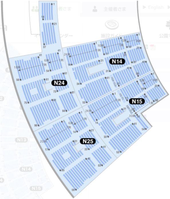 SHIZUOKA STADIUM ECOPA seat number chart rwc2019