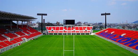 ラグビーワールドカップのパブリックビューイングを行う東大阪ファンゾーン
