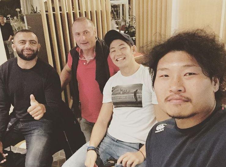 ラグビー日本代表稲垣選手の笑顔笑っている顔の写真画像