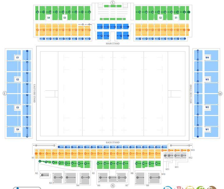 ラグビーワールドカップの釜石鵜住居復興スタジアムの座席表・シートマップ・座席番号