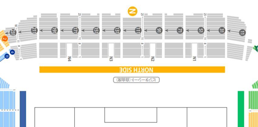 KOBE MISAKI STADIUM seat number chart rwc2019