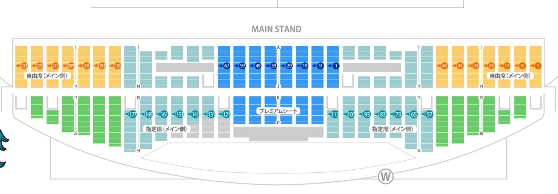 FUKUOKA HAKATANOMORI STADIUM seat number chart rwc2019