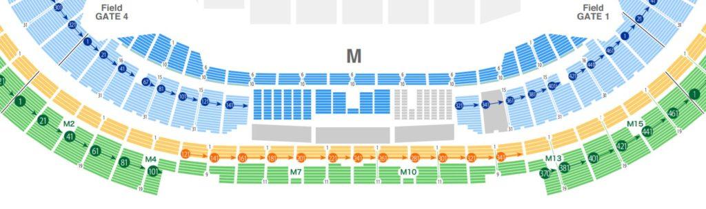ラグビーワールドカップ2019の東京スタジアムの座席表・シートマップ・座席番号