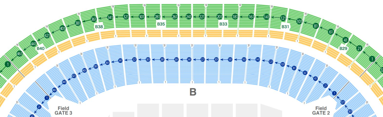 tokyo stadium seat number chart rwc2019