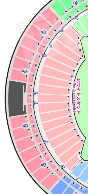 ラグビーワールドカップ東京スタジアムの座席表・シートマップ・チケット