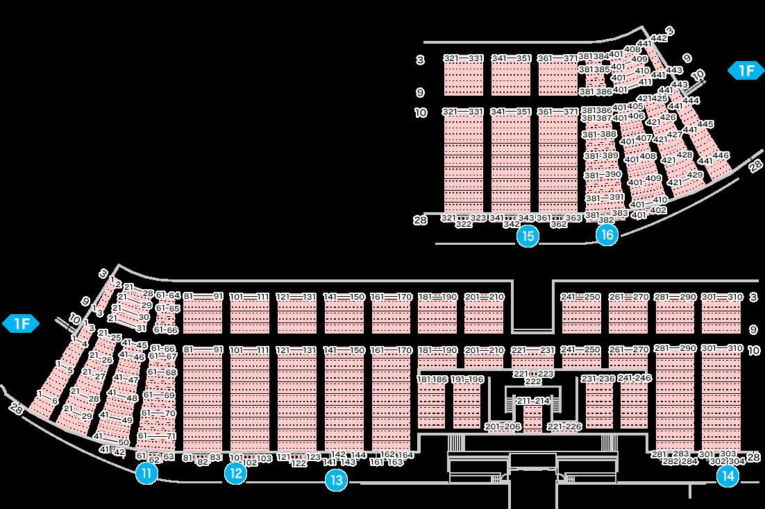 TOYOTA STADIUM seat number chart rwc2019
