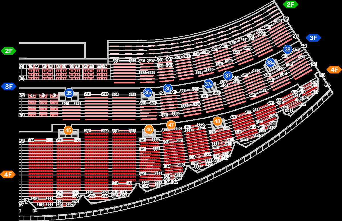 ラグビーワールドカップ豊田スタジアムの座席表・シートマップ