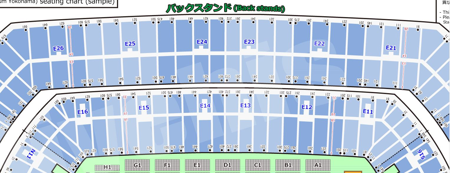 INTERNATIONAL STADIUM YOKOHAMA seat number chart rwc2019