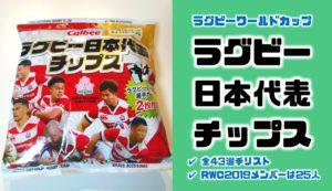 ワールドカップメンバー31人のうち25人がカードに|ラグビー日本代表チップスカードリスト