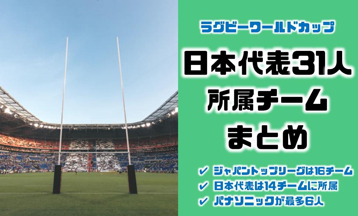 ラグビーワールドカップ日本代表31人の所属在籍チームまとめ