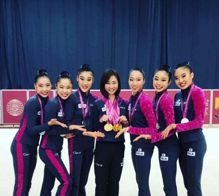 東京オリンピック新体操の日本代表候補杉本選手の写真