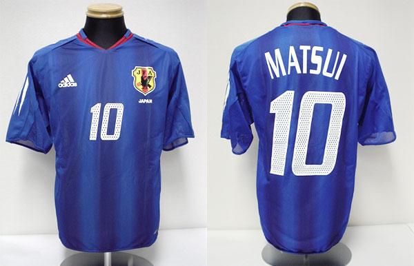 アテネオリンピックのサッカー日本代表ユニフォーム