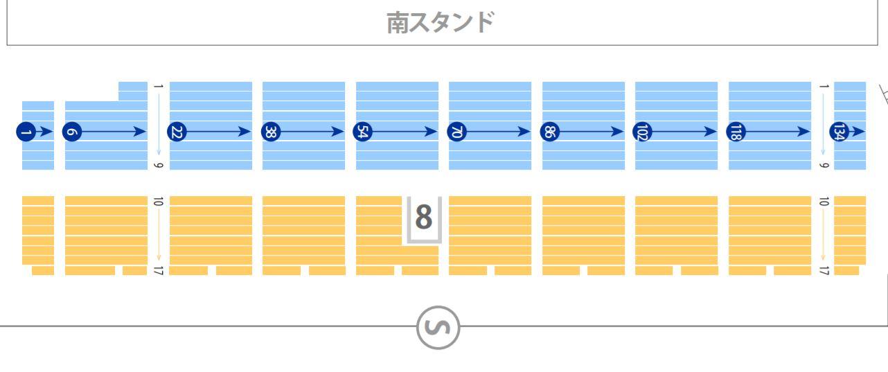ラグビートップリーグ東京秩父宮ラグビー場の座席表シートマップ