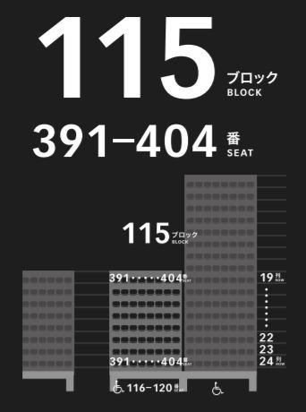新国立競技場の1階の座席表座席番号
