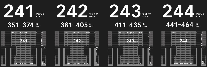 新国立競技場の2階3階バックスタンドの座席表座席番号