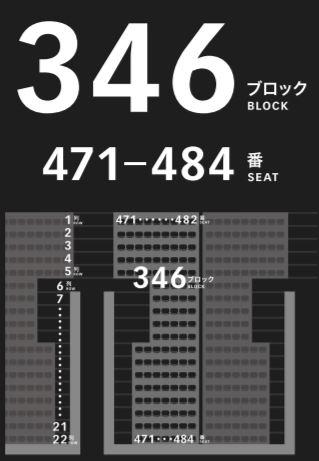 新国立競技場の4階バックスタンドの座席表座席番号