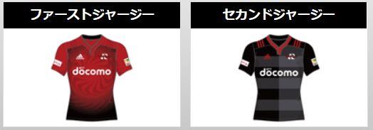 NTTドコモレッドハリケーンズのユニフォーム(ラグビージャージ2019)